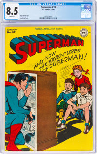 Superman #39 (DC, 1946) CGC VF+ 8.5 White pages