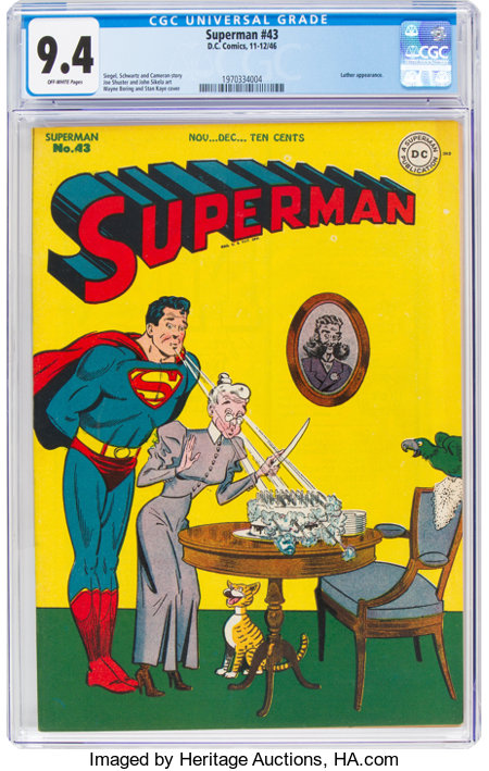 Superman #43 (DC, 1946) CGC NM 9.4 Off-white pages....