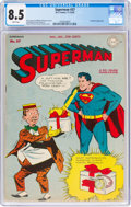 Golden Age (1938-1955):Superhero, Superman #37 (DC, 1945) CGC VF+ 8.5 White pages....