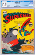 Golden Age (1938-1955):Superhero, Superman #13 (DC, 1941) CGC FN/VF 7.0 Off-white to white pages....