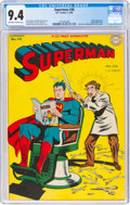 Golden Age (1938-1955):Superhero, Superman #38 (DC, 1946) CGC NM 9.4 Off-white to white pages....