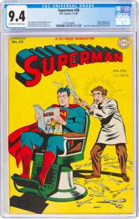 Superman #38 (DC, 1946) CGC NM 9.4 Off-white to white pages