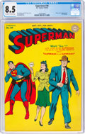 Golden Age (1938-1955):Superhero, Superman #30 (DC, 1944) CGC VF+ 8.5 Off-white to white pages....