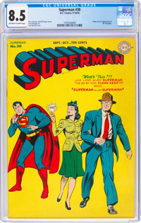 Superman #30 (DC, 1944) CGC VF+ 8.5 Off-white to white pages