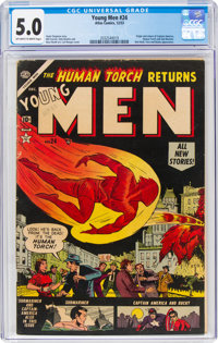 Young Men #24 (Atlas, 1953) CGC VG/FN 5.0 Off-white to white pages