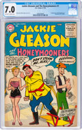 Silver Age (1956-1969):Humor, Jackie Gleason and the Honeymooners #1 (DC, 1956) CGC FN/VF 7.0 Off-white to white pages....
