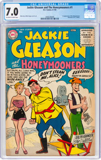 Jackie Gleason and the Honeymooners #1 (DC, 1956) CGC FN/VF 7.0 Off-white to white pages