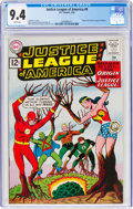 Silver Age (1956-1969):Superhero, Justice League of America #9 (DC, 1962) CGC NM 9.4 White pages....