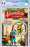 Silver Age (1956-1969):Superhero, Adventure Comics #242 (DC, 1957) CGC VF/NM 9.0 White pages....