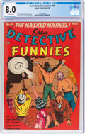 Golden Age (1938-1955):Adventure, Keen Detective Funnies #18 (Centaur, 1940) CGC VF 8.0 Off-white pages....