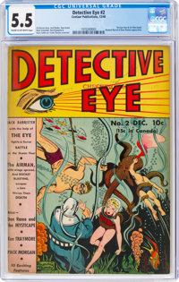 Detective Eye #2 (Centaur, 1940) CGC FN- 5.5 Cream to off-white pages