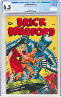 Brick Bradford #6 (Better Publications, 1948) CGC FN+ 6.5 Off-white to white pages