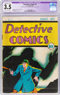 Platinum Age (1897-1937):Miscellaneous, Detective Comics #6 (DC, 1937) CGC Apparent VG- 3.5 Slight/Moderate (C-2) Cream to off-white pages....
