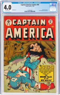 Captain America Comics #69 (Timely, 1948) CGC VG 4.0 Off-white pages