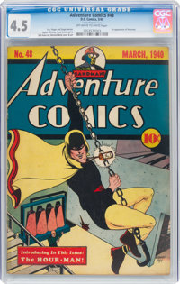 Adventure Comics #48 (DC, 1940) CGC VG+ 4.5 Off-white to white pages