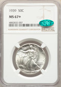 1939 50C MS67+ NGC. CAC. NGC Census: (242/21 and 12/0+). PCGS Population: (306/24 and 62/4+). CDN: $400 Whsle. Bid for p...