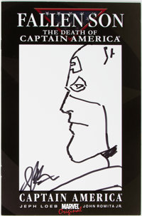 Jim Starlin Fallen Son: The Death of Captain America #3 Sketch Variant Cover Original Art (Marvel, 2007) Condition