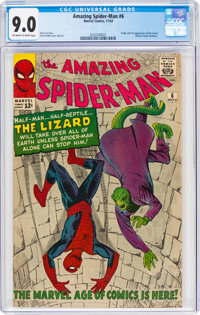 The Amazing Spider-Man #6 (Marvel, 1963) CGC VF/NM 9.0 Off-white to white pages