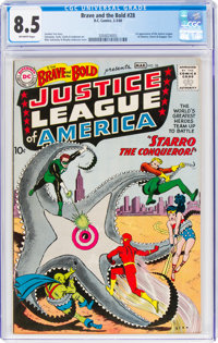 The Brave and the Bold #28 Justice League of America (DC, 1960) CGC VF+ 8.5 Off-white pages