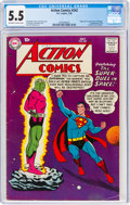 Silver Age (1956-1969):Superhero, Action Comics #242 (DC, 1958) CGC FN- 5.5 Off-white to white pages....