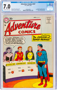 Adventure Comics #247 (DC, 1958) CGC FN/VF 7.0 Off-white to white pages