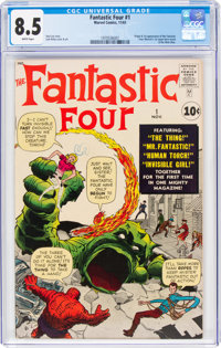 Fantastic Four #1 (Marvel, 1961) CGC VF+ 8.5 White pages