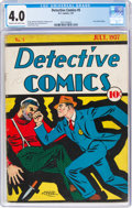 Platinum Age (1897-1937):Miscellaneous, Detective Comics #5 (DC, 1937) CGC VG 4.0 Cream to off-white pages....