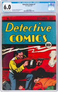 Detective Comics #7 (DC, 1937) CGC FN 6.0 Cream to off-white pages
