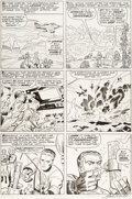 Original Comic Art:Panel Pages, Jack Kirby and Chic Stone Fantastic Four #30 Story Page 9 Original Art (Marvel, 1964)....