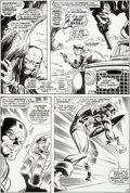 Original Comic Art:Panel Pages, Gene Colan and Joe Sinnott Captain America #116 Story Page 4 Original Art (Marvel, 1969)....
