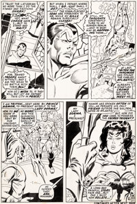 John Buscema and Johnny Craig Sub-Mariner #20 Story Page 11 Triton Original Art (Marvel, 1969)