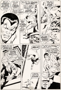 John Buscema and Johnny Craig Sub-Mariner #20 Story Page 2 Original Art (Marvel, 1969)
