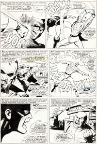 John Buscema and Vince Colletta The Avengers #44 Page 15 Original Art (Marvel, 1967)