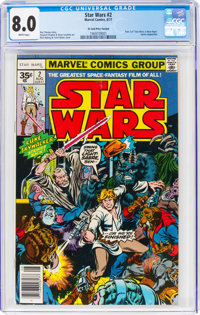 Star Wars #2 35¢ Price Variant (Marvel, 1977) CGC VF 8.0 White pages