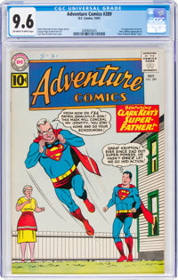 Adventure Comics #289 (DC, 1961) CGC NM+ 9.6 Off-white to white pages