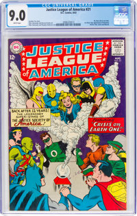 Justice League of America #21 (DC, 1963) CGC VF/NM 9.0 White pages