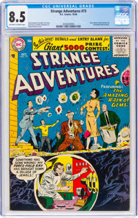Strange Adventures #73 (DC, 1956) CGC VF+ 8.5 Off-white to white pages