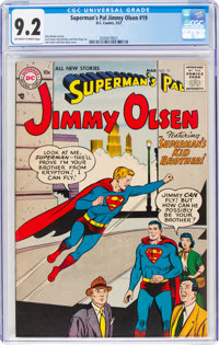 Superman's Pal Jimmy Olsen #19 (DC, 1957) CGC NM- 9.2 Off-white to white pages