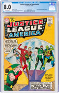Silver Age (1956-1969):Superhero, Justice League of America #4 (DC, 1961) CGC VF 8.0 Off-whi...