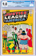 Silver Age (1956-1969):Superhero, Justice League of America #7 (DC, 1961) CGC VF/NM 9.0 Whit...