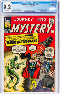 Journey Into Mystery #93 (Marvel, 1963) CGC NM- 9.2 White pages