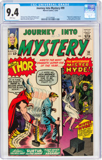Journey Into Mystery #99 (Marvel, 1963) CGC NM 9.4 White pages