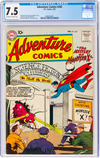 Adventure Comics #245 (DC, 1958) CGC VF- 7.5 Off-white to white pages