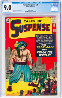 Tales of Suspense #38 (Marvel, 1963) CGC VF/NM 9.0 White pages