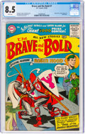 Silver Age (1956-1969):Adventure, The Brave and the Bold #7 (DC, 1956) CGC VF+ 8.5 White pages....