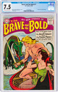 Silver Age (1956-1969):Adventure, The Brave and the Bold #17 (DC, 1958) CGC VF- 7.5 Off-white to white pages....