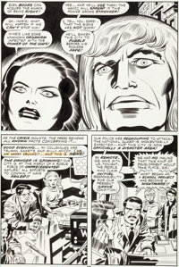 Jack Kirby and Mike Royer Eternals #15 Story Page 12 Original Art (Marvel, 1977)