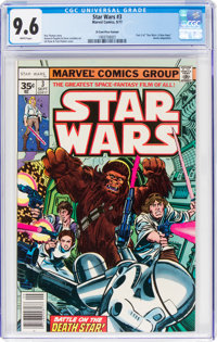 Star Wars #3 35¢ Price Variant (Marvel, 1977) CGC NM+ 9.6 White pages
