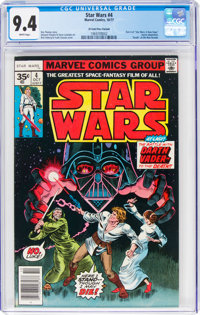 Star Wars #4 35¢ Price Variant (Marvel, 1977) CGC NM 9.4 White pages