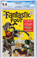 Silver Age (1956-1969):Superhero, Fantastic Four #2 (Marvel, 1962) CGC NM 9.4 Off-white to white pages....
